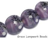 10605512 - Four African Violet Moonlight Lentil Beads
