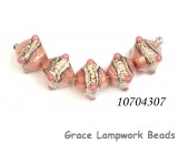 10704307 - Five Pink/Soft Orange Crystal Beads
