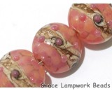 10704312 - Four Pink/Soft Orange Lentil Beads