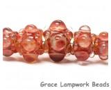 10704611 - Five Graduated Orange Rondelle Beads