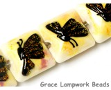 10802414 - Four Yellow Sparkle Garden Butterfly Pillow Beads