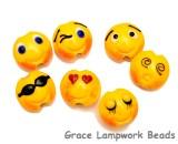 10802702 - Seven Emoji Lentil Beads