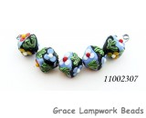 11002307 - Five Multiple Color Crystal Beads
