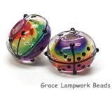11008201 - Seven Rainbow Balloons Rondelle Beads