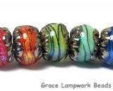 11008501 - Seven Artist Palette of Shimmer Rondelle Beads