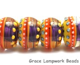 11008921 - Six Barcelona Gloss Rondelle Beads