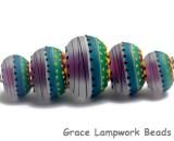 11009111 - Five Rio de Janeiro Matte Graduated Rondelle Beads