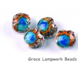 Yellowstone Midway Geyser Basin  grace lampwork beads artisan handmade glass beads SRA
