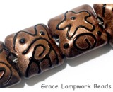 11204404 - Seven Copper Pearl Surface w/Black Swirl Pillow Beads