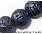 11204702 - Seven Purple Pearl Surface Lentil Beads