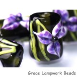 10205703 - Six Purple Iris Mini Kalera Beads