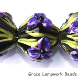 10205707 - Five Purple Iris Crystal Beads