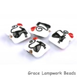 grace lampwork beads artisan handmade glass beads SRA CAT