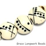 10303002 - Seven Ivory w/Black Lentil Beads
