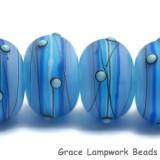 10414721 - Six Arctic Blast Rondelle Beads