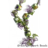 10504504 Necklace using White & Purple Flora Pillow Beads