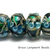 10508321 - Six Mirage Lake Rondelle Beads