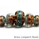 10903211 - Five Smokey Bronze Graduated Rondelle Beads