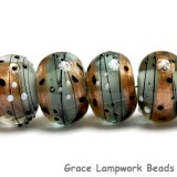 10903221 - Six Smokey Bronze Rondelle Beads