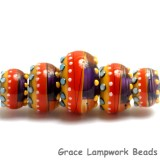 11008911 - Five Barcelona Gloss Graduated Rondelle Beads