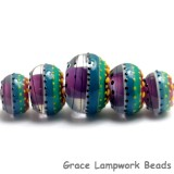11009011 - Five Rio de Janeiro Gloss Graduated Rondelle Beads