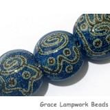 11203602 - Seven Green w/Stringer Lentil Beads
