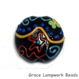 11812102 - Black Based Fiesta Lentil Focal Bead