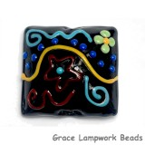 11812104 -  Black Based Fiesta Pillow Focal Bead