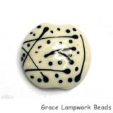 11812702 - Ivory w/Black Lentil Focal Bead