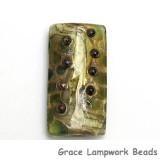 11813903 - Green w/Silver Foil Kalera Focal Bead