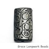 11814303 - Silver Pearl w/Black Swirl Kalera Focal Bead