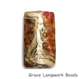 11815103 - Transparent Red w/Silver Foil Kalera Focal Bead