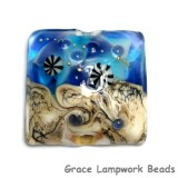 11815904 - Transparent Blue Seashell Pillow Focal Bead