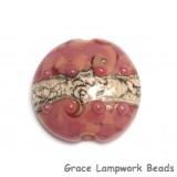 11816402 - Pink Desert Lentil Focal Bead