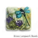 11816604 - Blue Dragonfly w/Purple Flora Pillow Focal Bead