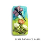 11816903 - Purple Dragonfly w/Orange Flora Kalera Focal Bead