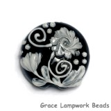 11817002 - Midnight Garden Lentil Focal Bead