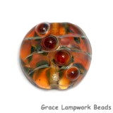 11817102 - Green & Orange Lentil Focal Bead
