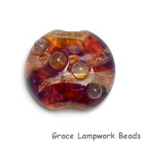11817502 - Yellow-orange & Purple Lentil Focal Bead