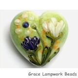 11819125 - Green w/White & Purple Flora Heart (Large)