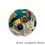 11819302 - Teal Treasure Lentil Focal Bead