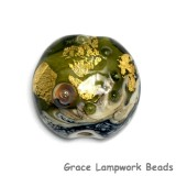 11819402 - Emerald Treasure Lentil Focal Bead