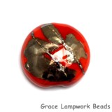 11819502 - Electric Orange Metallic Lentil Focal Bead