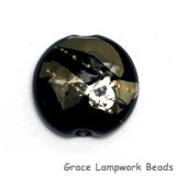 11819602 - Elegant Black Metallic Lentil Focal Bead