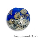 11819702 - Cobalt Treasure Lentil Focal Bead