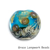 11819802 - Aqua Treasure Lentil Focal Bead