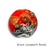 11819902 - Fire Island Treasure Lentil Focal Bead