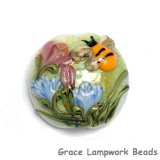 11830102 - Bumble Bee Garden Lentil Focal Bead