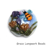 11830202 - Bumble Bee Dreams Lentil Focal Bead