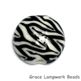 11830802 - Zebra Stripes Lentil Focal Bead